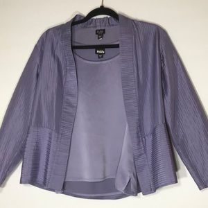 EILEEN FISHER 2piece silk tank jacket p medium